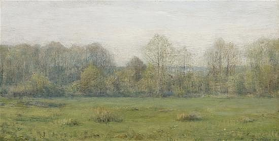 "Lot 28 ""A Spring Morning"" by Dwight William Tryon was sold nearly twice as much as its high estimation at Shannons"