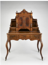 Adolph Kempen, Austin,  Texas, 1844-1885, Desk, c.  1875 Walnut and maple;  collection of William J. Hill