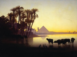 Charles Théodore Frère, Along the Nile at Gyzeh