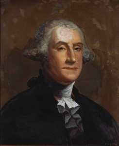 William Mathew Prior's Washington Portrait on glass, at Bonahms