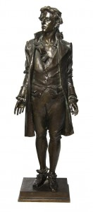 Lot 24: Frederick William MacMonnies, (American, 1863-1937), Nathan Hale, Offered by Leslie Hindman