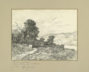 Henri Harpignies' drawing offered at Swann Gallerie