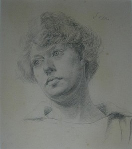 A Female Head by Augustus John offered by Lyon & Turnbull