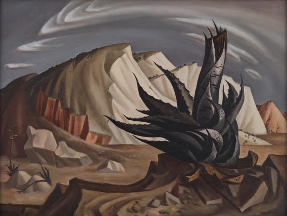 Jerry Bywaters (1906–1989)  Century Plant, 1939  Oil on Masonite Collection of Alexander H. Albritton Amon Carter Museum of American Art
