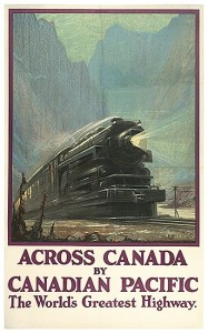 Across Canada by Canadian Pacific, poster by A. C. Leighton offered at Swann