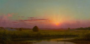 Sunset over the Marsh, c. 1876-82 by Martin Johnson Heade from Paul Buchanan Collection Sold for $537,750.00 at Heritage Auction Galleries