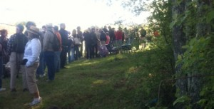 Line at May's Antique Market in Brimfield