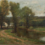 Farmhouse Along a River by Charles Linford at Doyle, Estimate $3,000-5,000