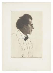Lot 68 at Swann Galleries' 19 and 20 century prints and drawing sale, an etching and dry-point by Emil Orlik, was sold for $2,000 plus premium