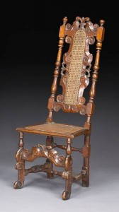 Museums are selling! A William and Mary Walnut Side Chair from the Fine Arts Museums of San Francisco