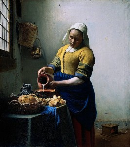 The Milkmaid by Vermeer, now on view at the Metropolitan Museum of Art