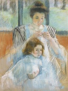 "Mary Cassatt's Study for ""Young Mother Sewing"" was sold for $2.1 million"