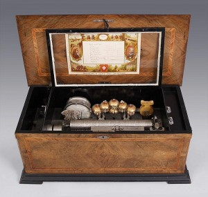 A Swiss Harry Gautschi & Sons music box offered from Cottone Auction