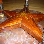 Star Pattern on Quervelle center table at Smithsonian