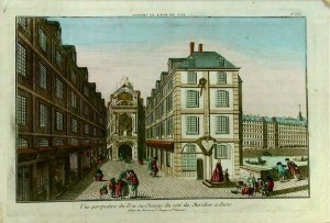 A Perspective View Print of the Toll House, Paris, France