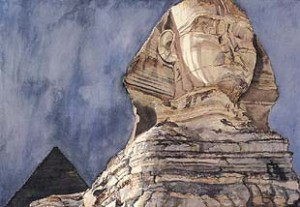 The Great Sphinx, Giza by Philip Pearlstein 1979