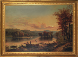 """View on the Allegheny River"" by William Coventry Wall, c. 1854 at Treadway Auction"