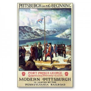 """Pittsburgh In the Beginning"", a PRR poster illustrated by N. C. Wyeth"