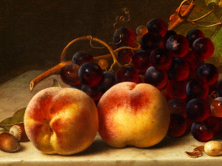 A Still Life painting by Johann Whilhelm Preyer, once at New York Gallery