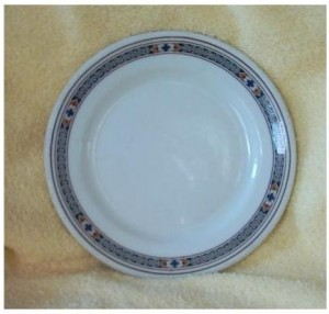 eBay finding: PRR 1940/50s LAUREL Pattern 7-3/8in. Dinner/Salad Plate
