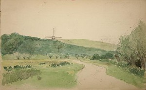 Thomaston Place Auction Galleries, August 22, 2009. Lot 112: 5 Sketchbook of Europe Views 1914 Henry W Ranger