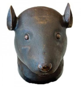Bronze Rat head Statue
