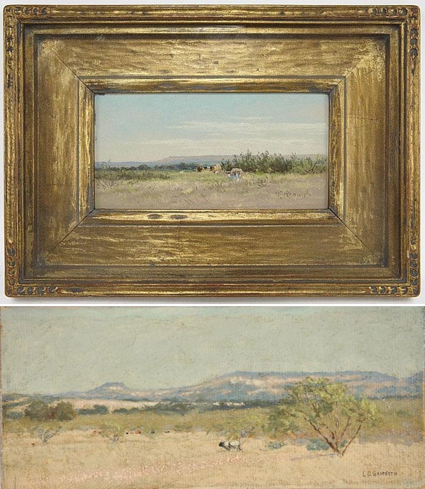 The Top: Frank Reaugh, offered by Dallas Fine Art Auction, the bottom: L. O. Griffith