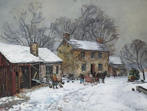 Horse and Sleigh Days by Edward Willis Redfield