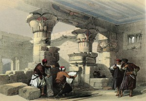 Louis Haghe after David Roberts, Dayr el Medeeneh, Thebes, from The Holy Land: Egypt and Nubia, 1846-50