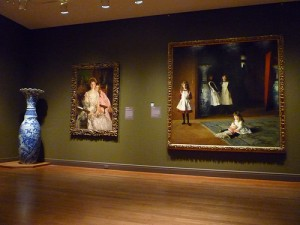 The temporary space for American Art at MFA, Boston features two artists: Copley and Sargent