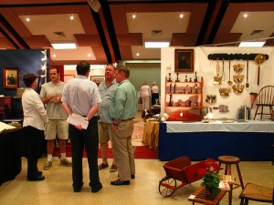 At the 60th All Saints' Antiques Show, Rehoboth Beach, DE, dealers and buyers were having fun chatting