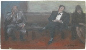 Waiting Room by Clyde Singer offered at Rachael Davis Fine Arts
