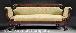American Classical Mahogany Sofa from Neal Auction