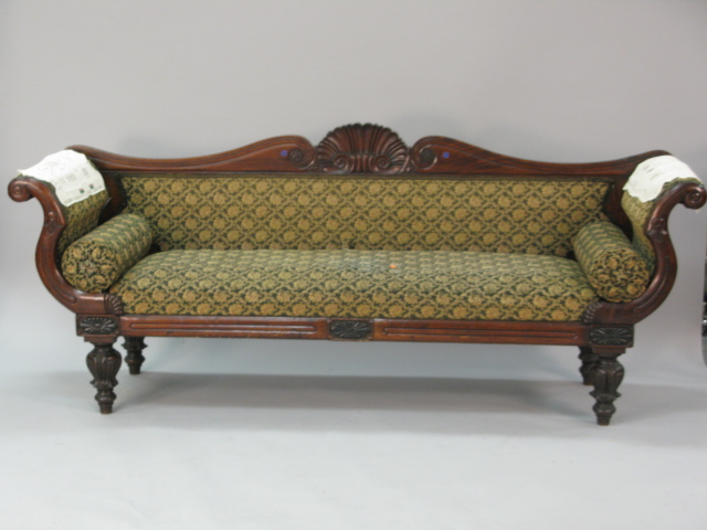 Genial An Attractive Sofa Described As U201cclassical Mahogany Sofa With Shell Carved  Back On Turned And Carved Legs, C. 1840u201d Estimated At $800 $1,200, Sold For  Only ...