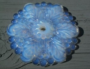 Old Victorian Opalescent Glass Flower Curtain Tie Back at e Bay