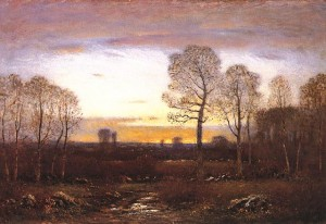November Evening by Dwight William Tryon (Courtesy to Smith College Museum of Art)