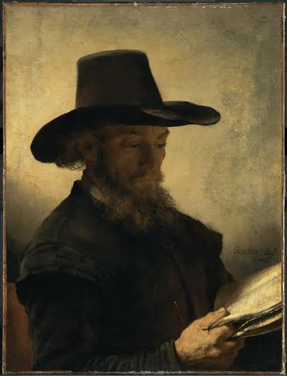 Man Reading Rembrandt Clarke